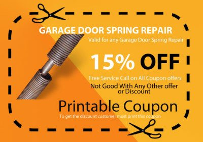 Garage door spring repair coupon