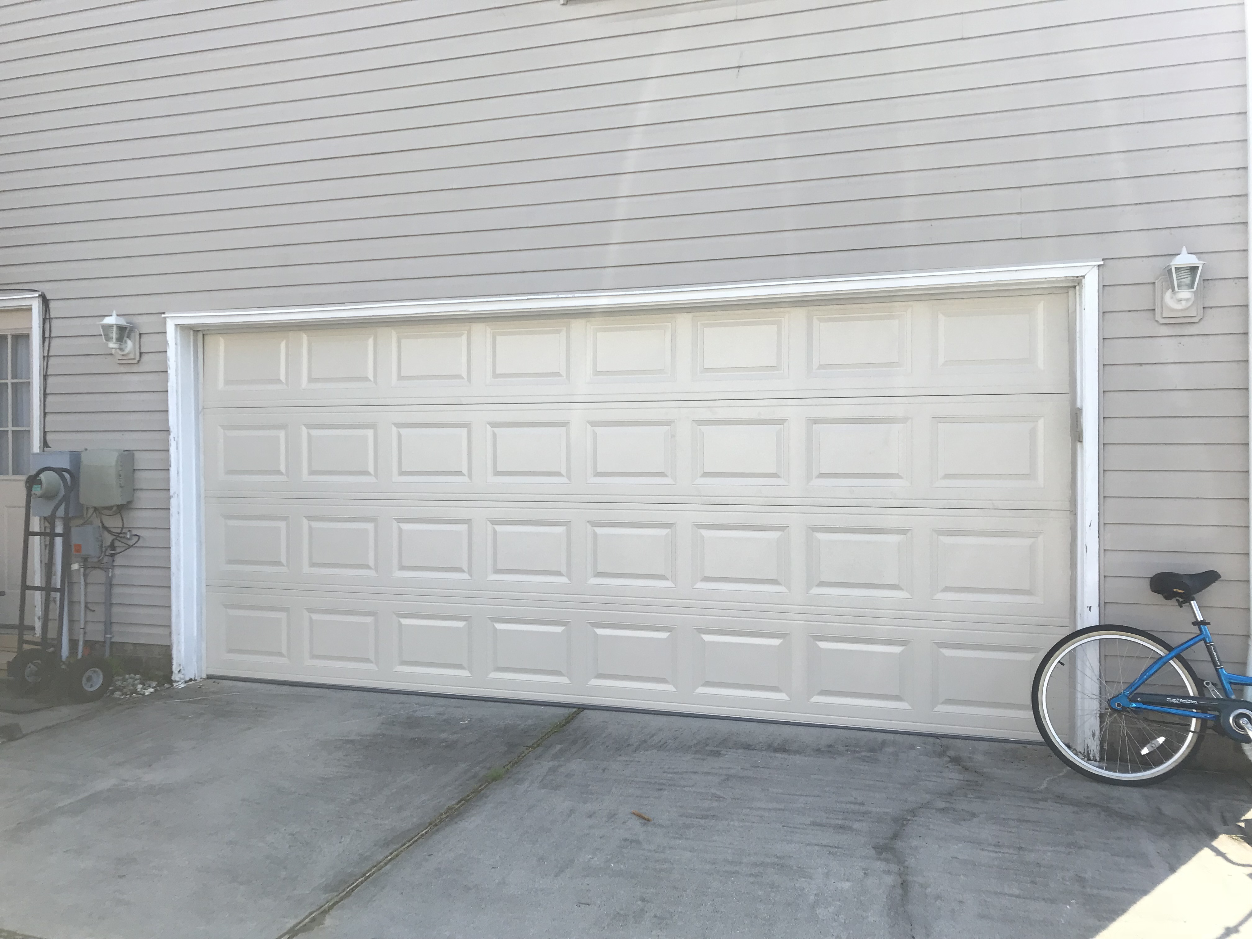 "16""x7"" Almond CHI Garage Door Installation"