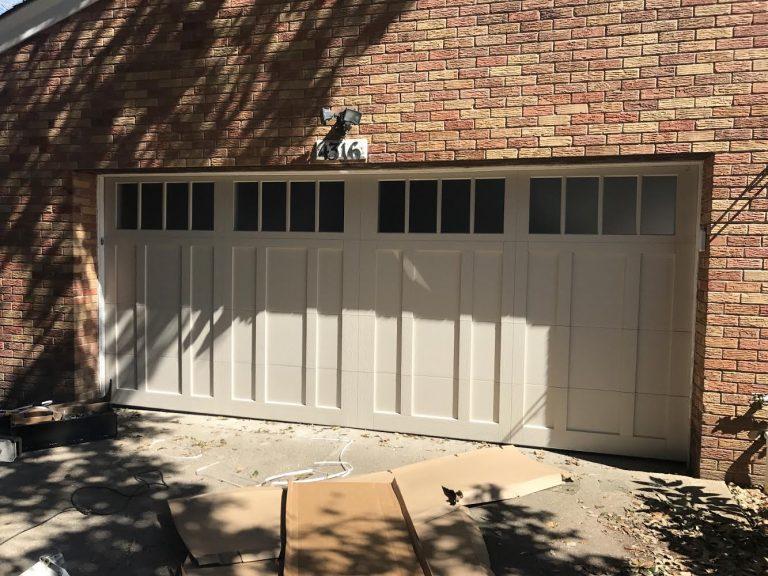 CHI Overlay Carriage Garage Door Installation