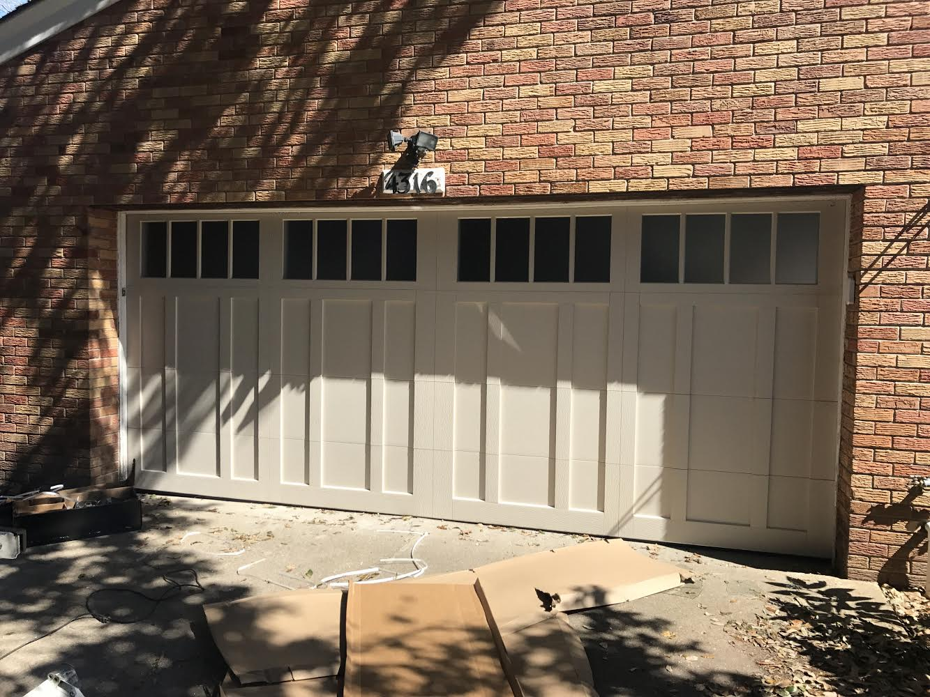 CHI Overlay Carriage Garage Door Installation