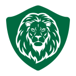 Lion garage door logo